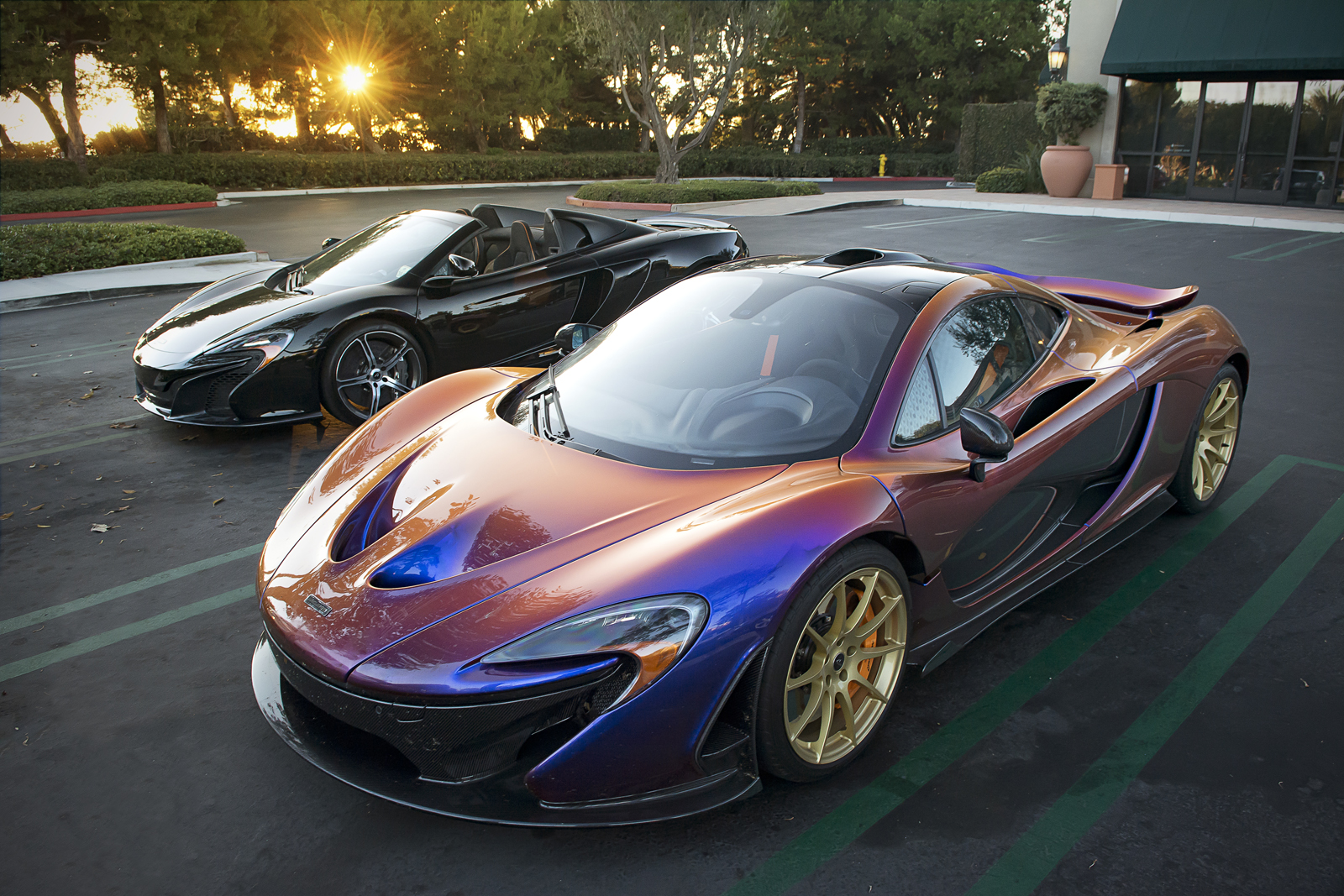 Color car los angeles - Chameleon Mclaren P1